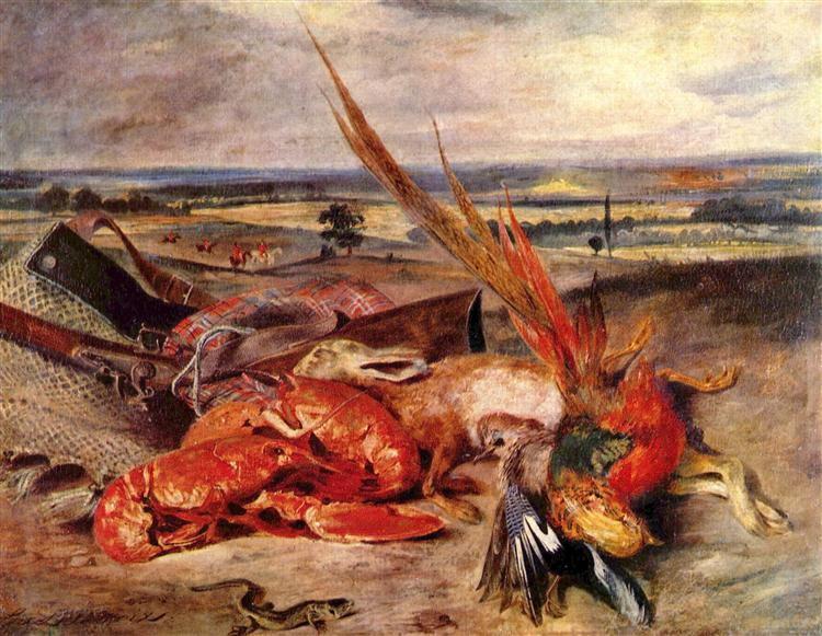 Still Life with Lobsters, 1826 - 1827 - Eugene Delacroix