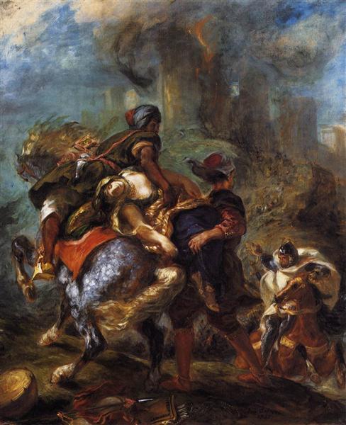 The Abduction of Rebecca, 1846 - Eugene Delacroix