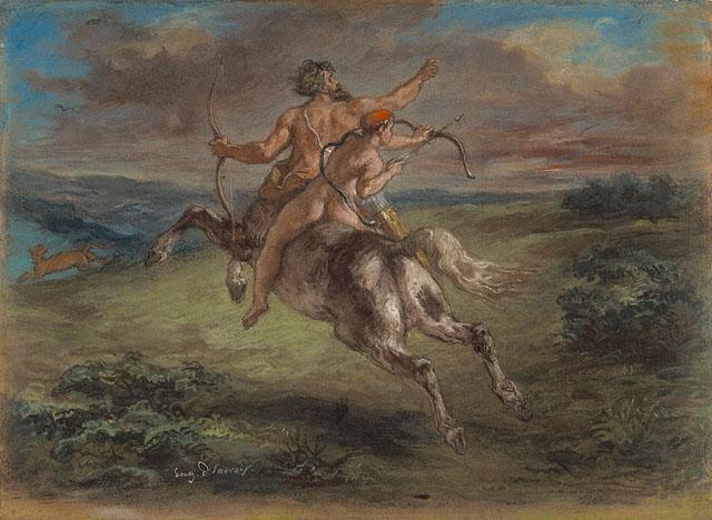 The Education of Achilles, 1862 - Eugene Delacroix