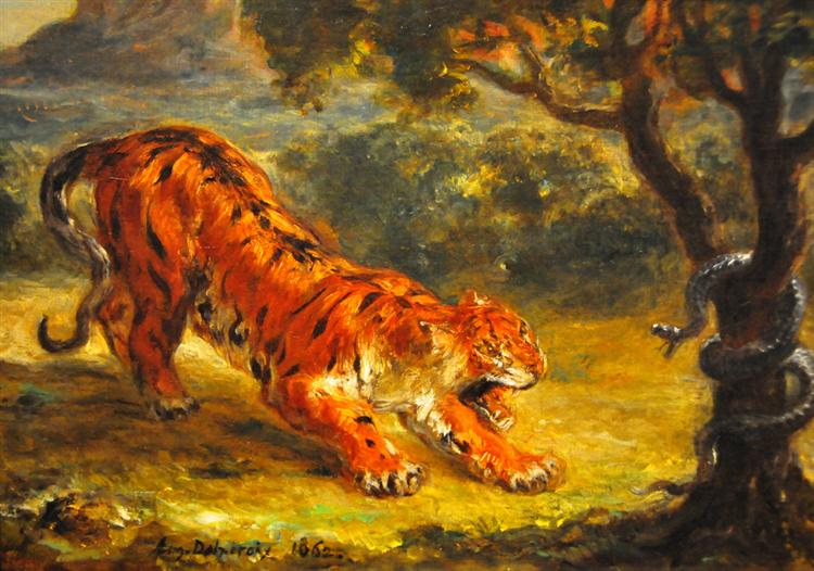 Tiger and Snake, 1862 - Eugene Delacroix