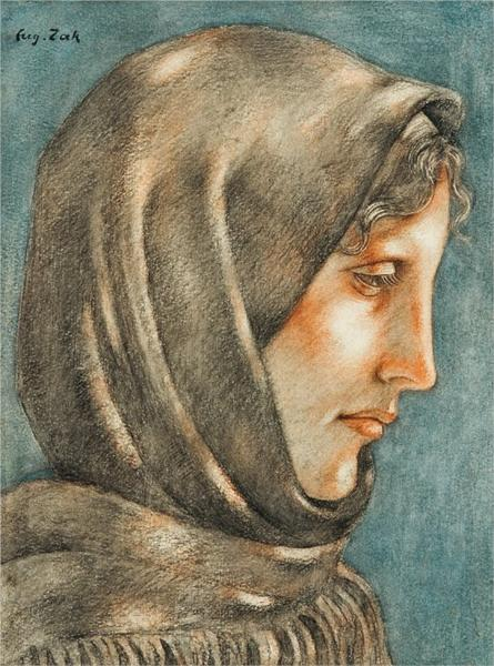Girl in Scarf, 1916 - Eugeniusz Zak