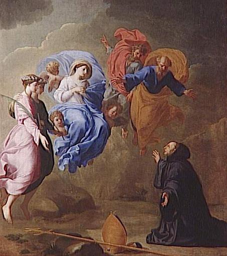 Apparition de la Vierge, 1660 - Eustache Le Sueur