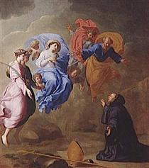 Apparition de la Vierge - Eustache Le Sueur