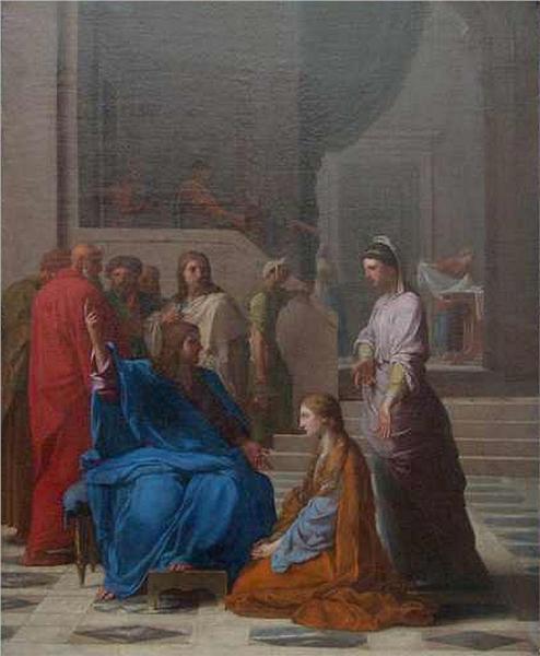 Jésus chez Marthe et Marie, 1650 - Eustache Le Sueur