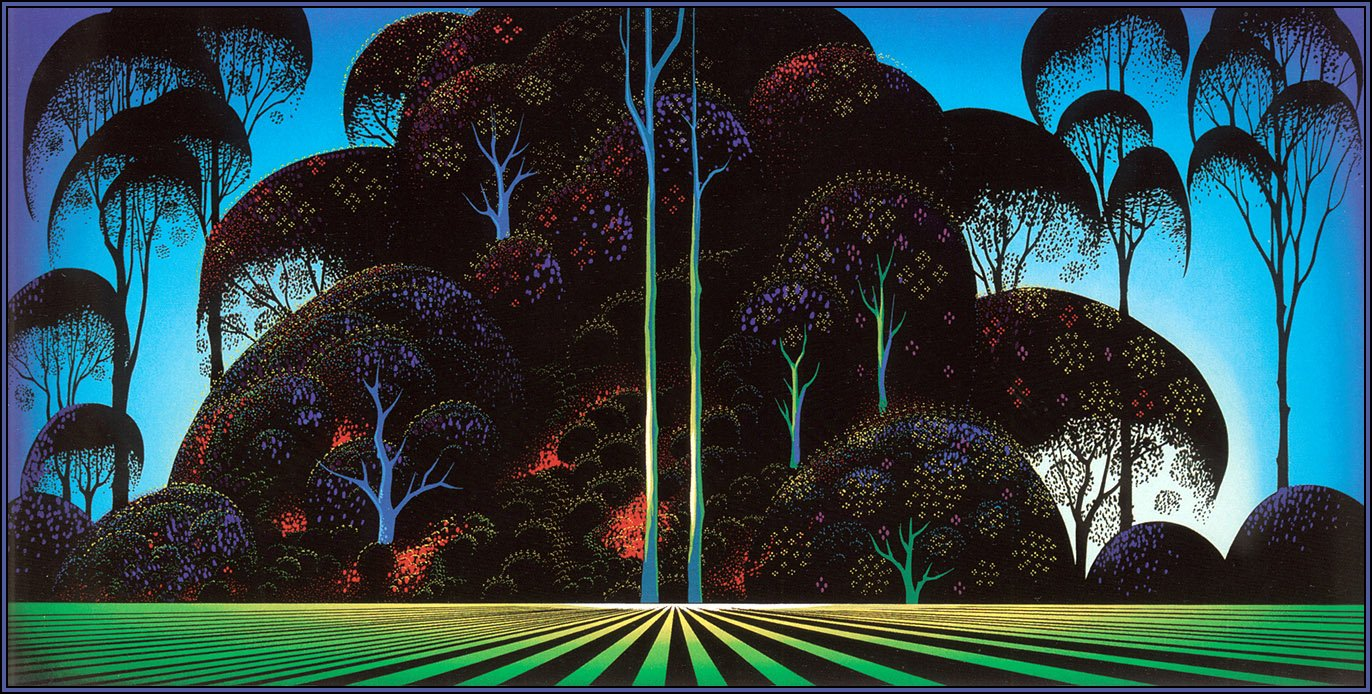 Forest Bouquet 1996 Eyvind Earle Wikiart Org