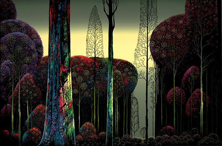 Gothic Forest, 1980 - Eyvind Earle