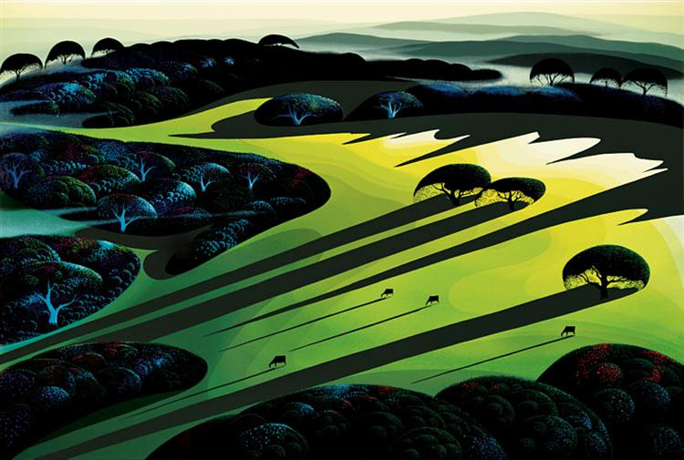 Silent Meadow, 1990 - Eyvind Earle
