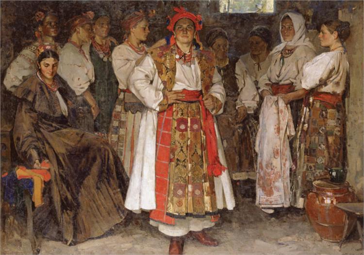 The bride, 1910 - Fedir Krychevsky