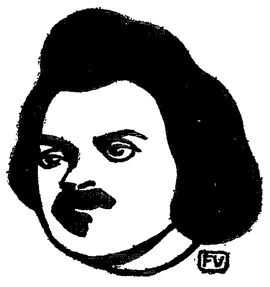 French writer Honoré de Balzac, 1895 - Felix Vallotton