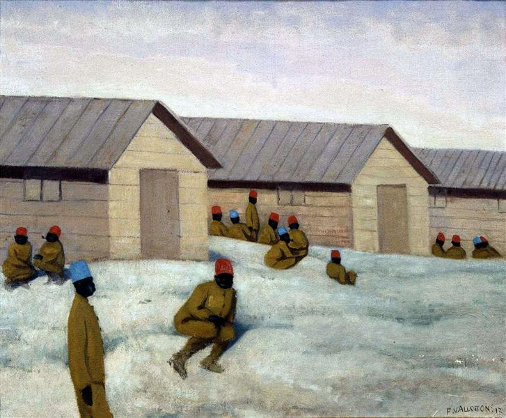 Senegalese soldiers at Camp de Mailly, 1917 - Felix Vallotton