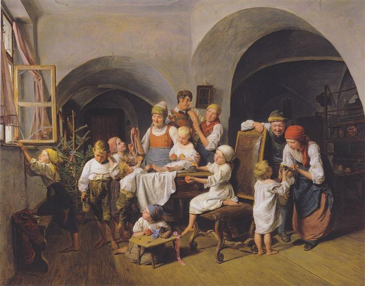 Christmas morning, 1844 - Ferdinand Georg Waldmüller