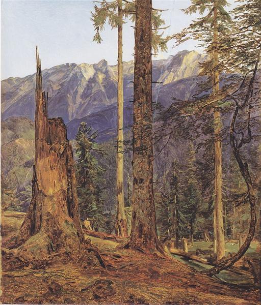 The Höllengebirge at Ischl, 1834 - Ferdinand Georg Waldmüller