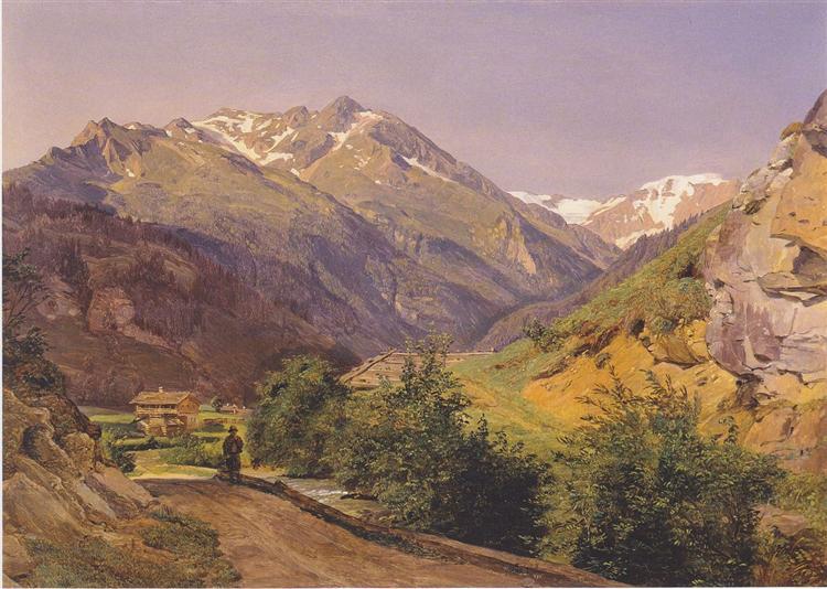 The Radhausberg at Gastein, 1837 - Ferdinand Georg Waldmüller