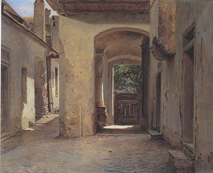 Yard of the old, Heumüller, in Vienna, 1859 - Фердинанд Георг Вальдмюллер