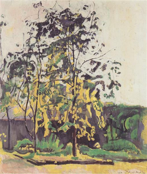 Tree in the workshop garden, 1917 - Ferdinand Hodler