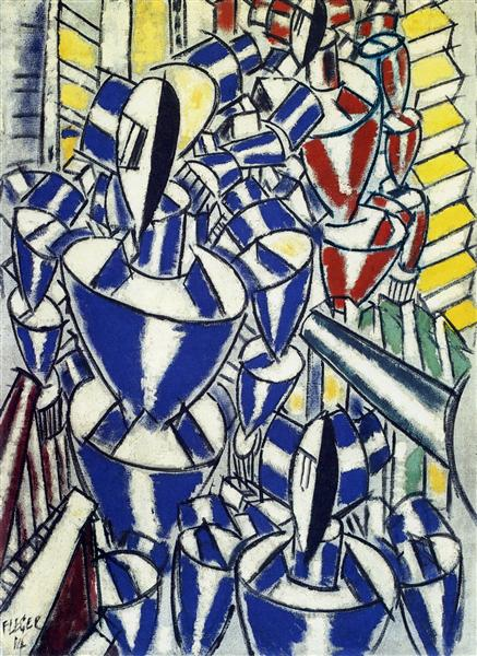 The Exit of the Russian Ballet, 1914 - Fernand Leger