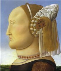 Battista Sforza (dopo Piero della Francesca) - Fernando Botero