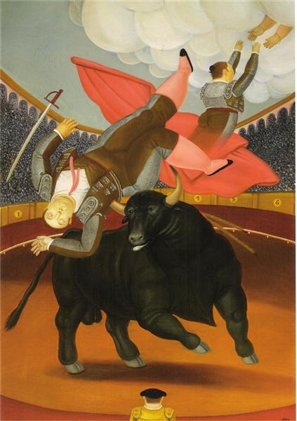 The Death of Luis Chalet, 1984 - Fernando Botero