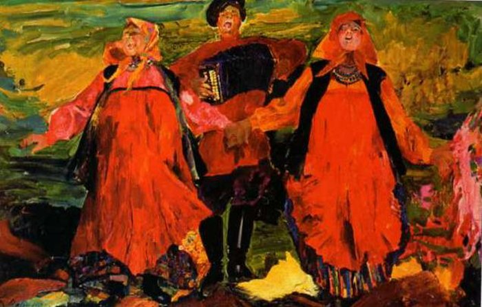 Singing peasants - Filipp Malyavin