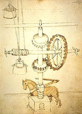 Sketches of the machines, c.1430 - Filippo Brunelleschi