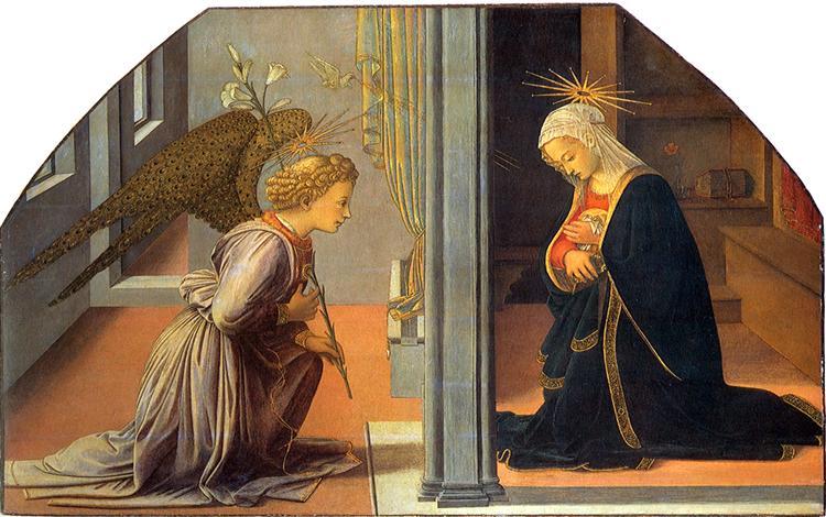 Annunciation, 1435 - Filippo Lippi
