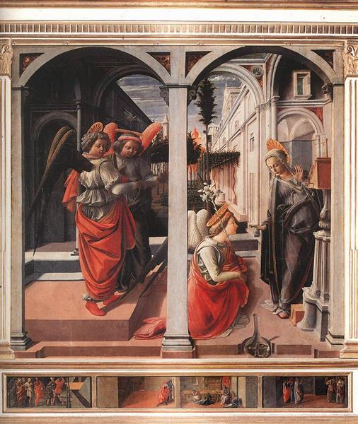 Annunciation, 1445 - Filippo Lippi
