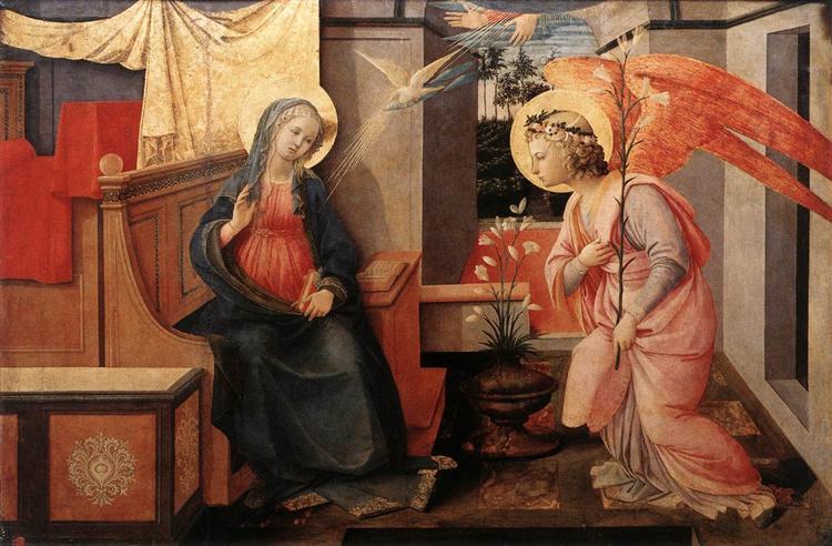 Annunciation, 1450 - Filippo Lippi