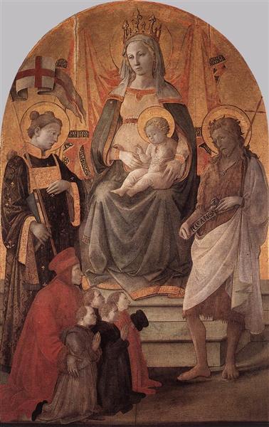 Madonna del Ceppo, c.1452 - c.1453 - Filippo Lippi