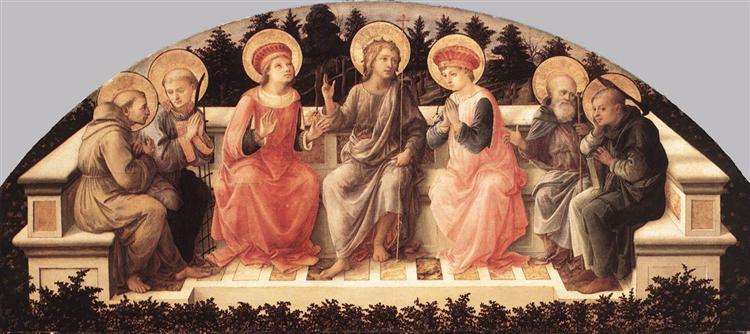 Seven Saints, 1450 - Filippo Lippi