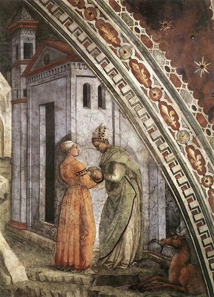The Birth and Infancy of St. Stephen (detail), 1452 - 1465 - Filippo Lippi