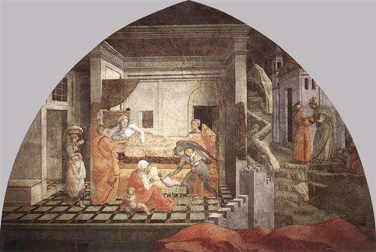 The Birth and Infancy of St. Stephen, 1452 - 1465 - Filippo Lippi