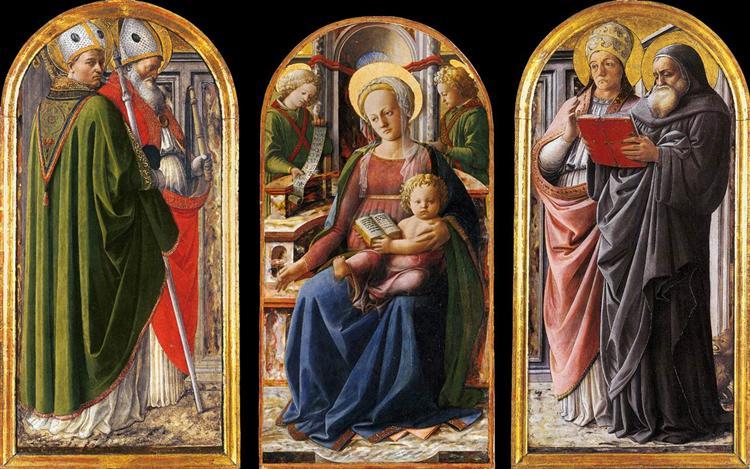 Triptych, c.1437 - Filippo Lippi