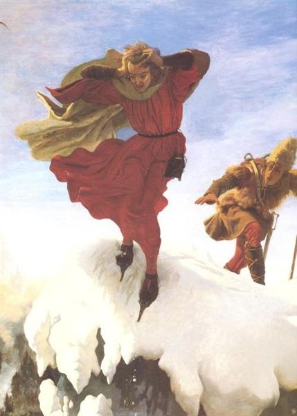 Manfred on the Jungfrau - Ford Madox Brown
