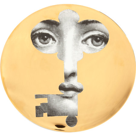Theme & Variations Decorative Plate #47 (Face in Key) - Piero Fornasetti
