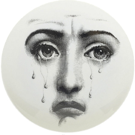 Theme & Variations Decorative Plate #77 (Crying Face) - Fornasetti