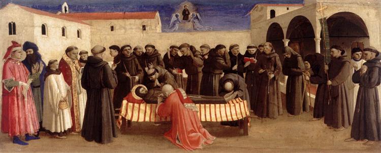Lamentation over St. Francis, c.1429 - Fra Angelico
