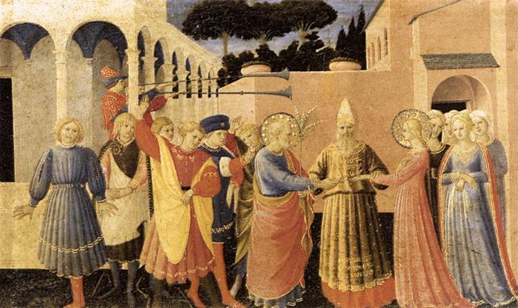 Marriage of the Virgin, 1433 - 1434 - Fra Angelico