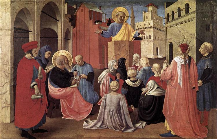 St. Peter Preaching in the Presence of St. Mark, c.1433 - Fra Angelico