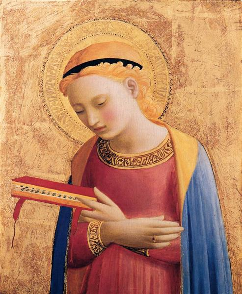 Virgin Mary Annunciate, 1431 - 1433 - Fra Angelico
