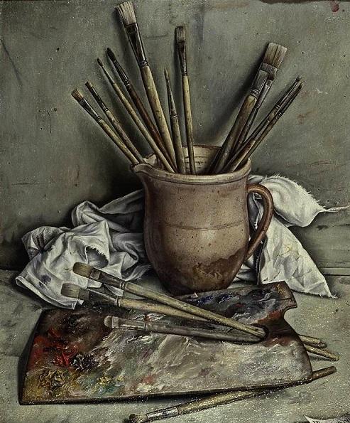 Palette et pinceaux, 1928 - François Barraud