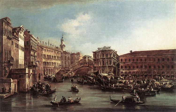 The Rialto Bridge with the Palazzo dei Camerlenghi, 1763 - Francesco Guardi