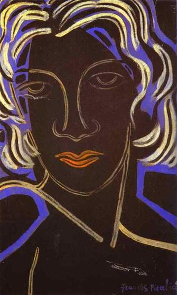 Face of a Woman, 1936 - Francis Picabia