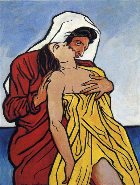 Man and woman by the sea - Francis Picabia
