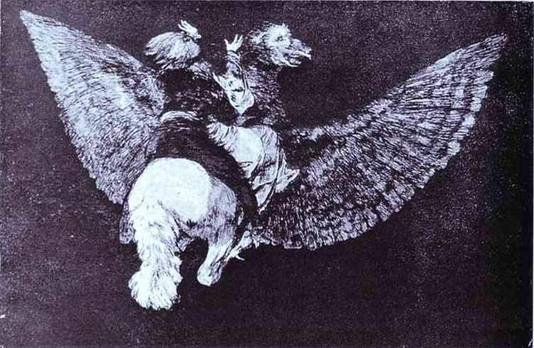 Absurdity Flying, 1819 - 1823 - Francisco Goya