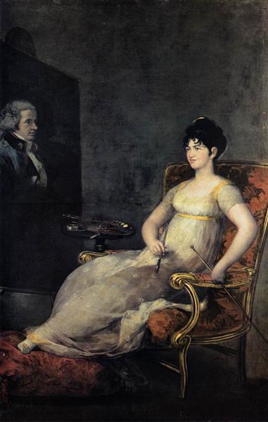 Dona María Tomasa Palafox, The Marquesa de Villafranca Painting her Husband, 1804 - Francisco de Goya