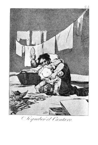 He broke the pitcher, 1799 - Francisco Goya