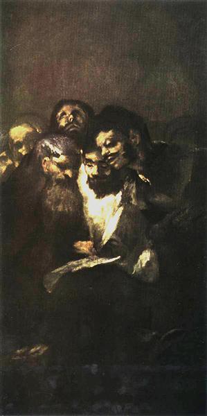 Men reading, 1819 - 1823 - Франсиско де Гойя