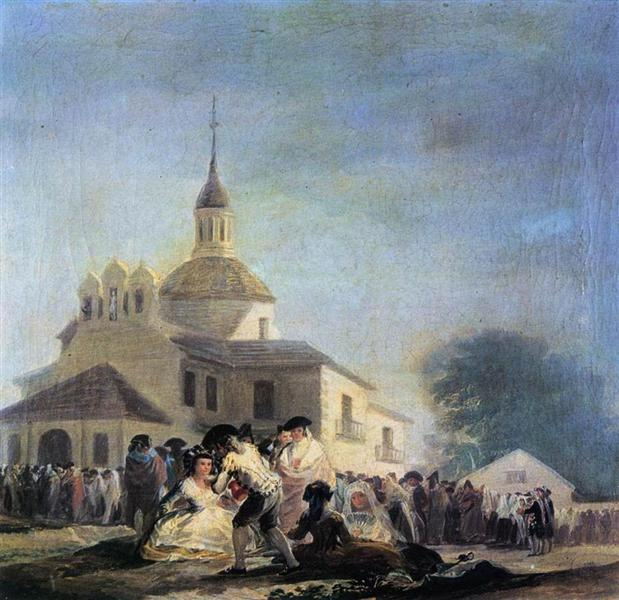 Pilgrimage to the Church of San Isidro, 1788 - Francisco Goya