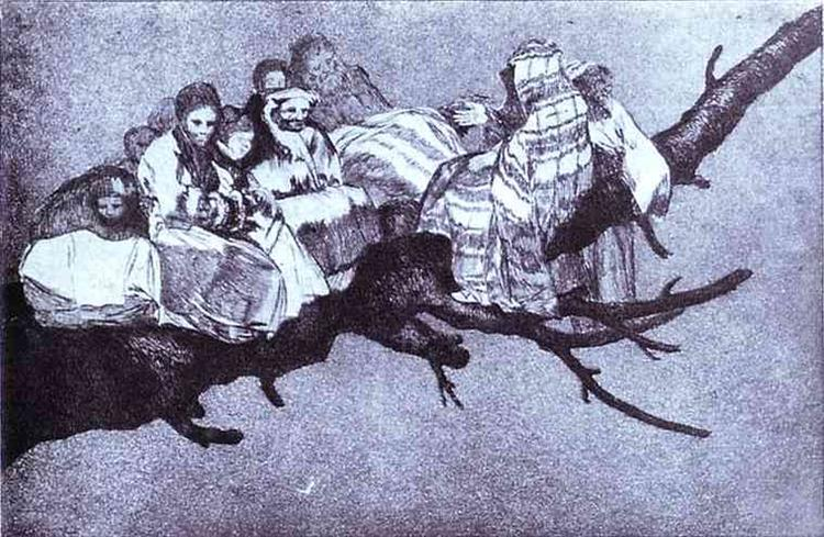 Ridiculous dream, c.1819 - Francisco Goya