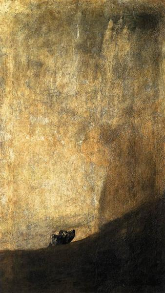 The Dog, c.1819 - Франсіско-Хосе де Гойя